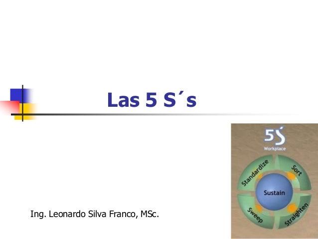 """Las 5 S´s  El nombre - Las """"5S"""" - proviene de las palabras que lo caracterizan, las cuales, en la transcripción fonética ..."""