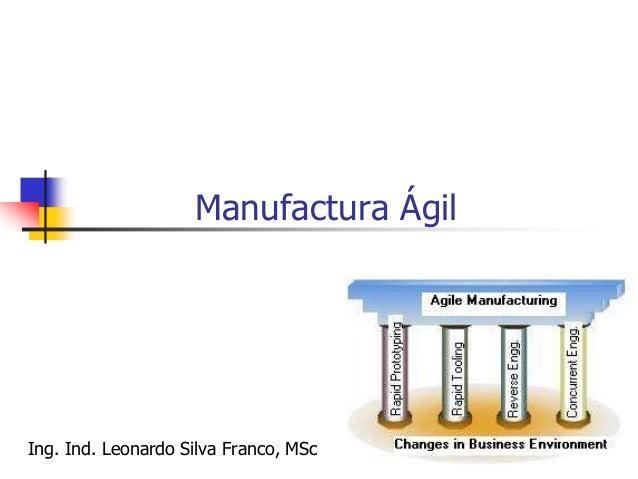 240 MANUFACTURA AGIL El término de manufactura ágil (agile manufacturing) surge a finales de la década de los 90, cuando l...