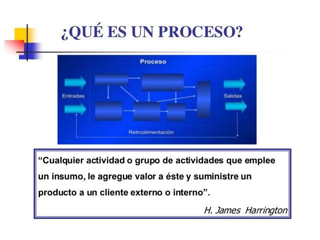 """""""Cualquier actividad o grupo de actividades que emplee un insumo, le agregue valor a éste y suministre un producto a un cl..."""