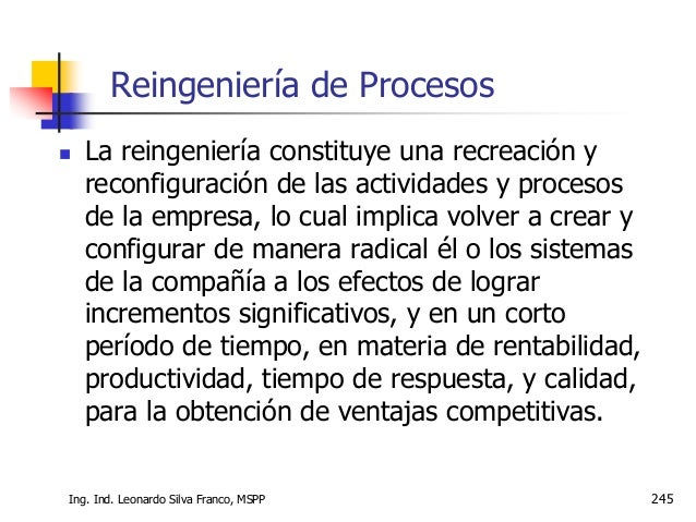 246 PRINCIPIOS PARA LA MODERNIZACION DE PROCESOS 1. Eliminación de la burocracia 2. Eliminación de la duplicación 3. Evalu...