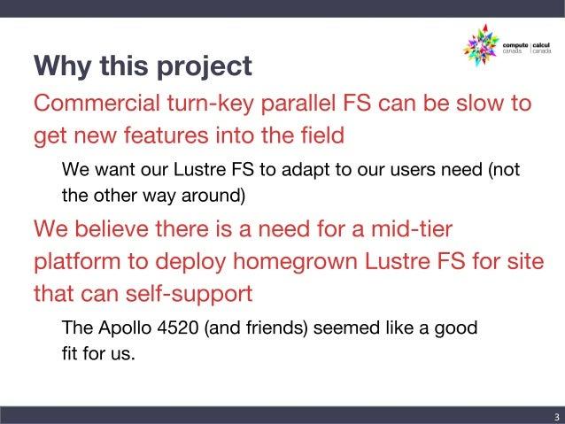 Lustre-ZFS on the Apollo 4000 platform Slide 3