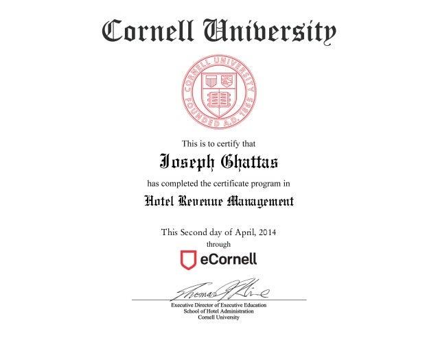 Cornell Hotel Revenue Managment