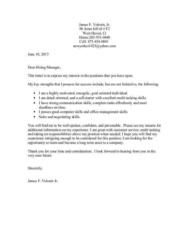 J. Volosin Cover Letter 9-16-14