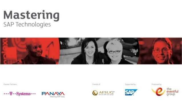 Naviga&ng  SAP's  Integra&on  Op&ons   Lessons  Learnt  Integra&ng  SAP  into  a  Complex  Landscape...
