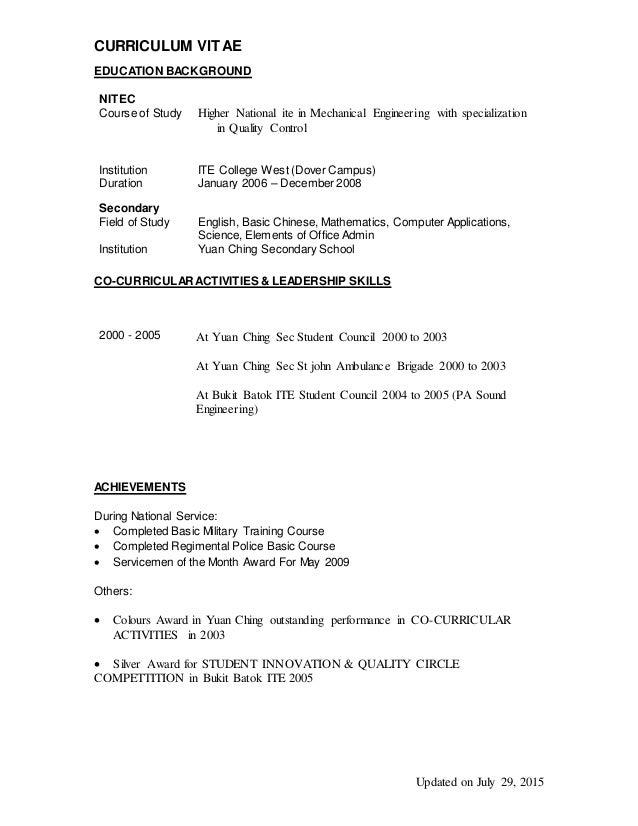 alvin 2014 resume updated 29072015