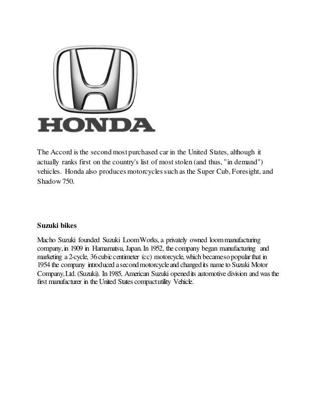 Honda Vs Suzuki Bikes