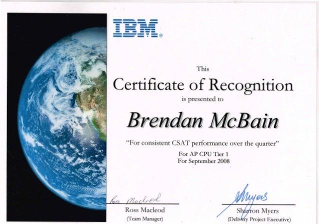 IBM Certificate