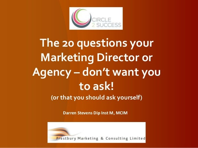 marketing questions to ask yourself about your relationship