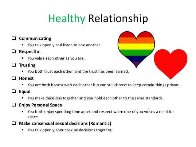 mental health presentation – Healthy Relationships Worksheet