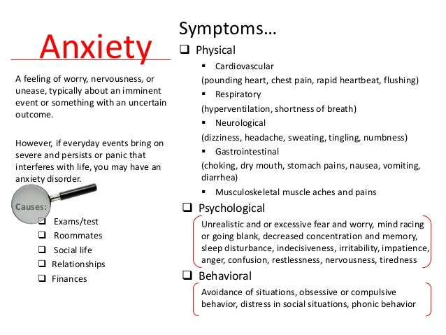how to stop physical anxiety symptoms
