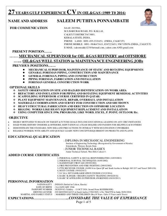 plant equipment manager resume - Romeo.landinez.co