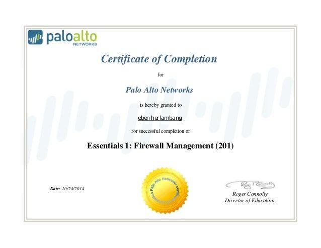 certificate Palo Alto 201