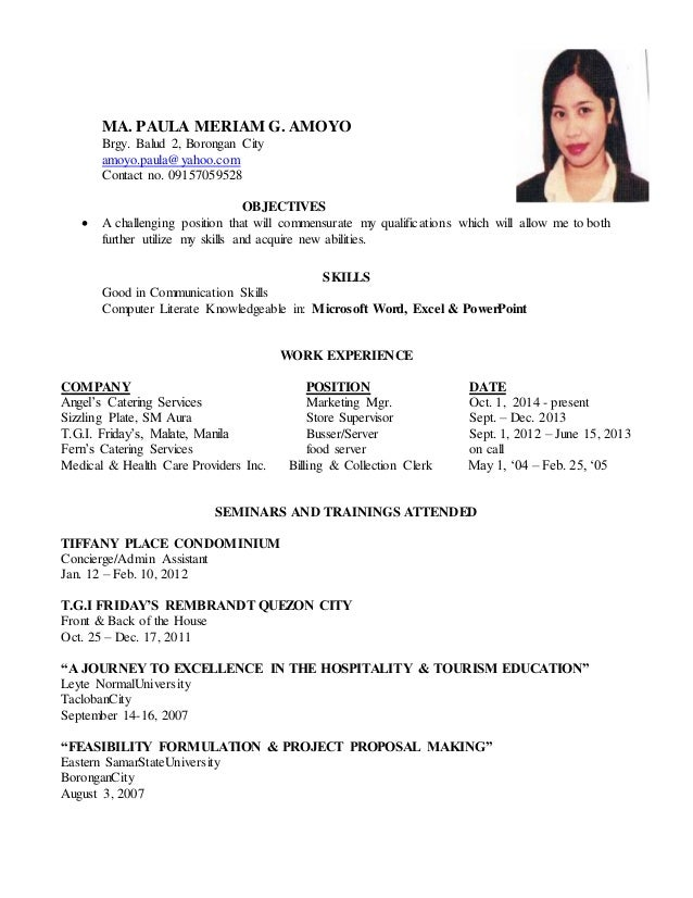 Call centre resume