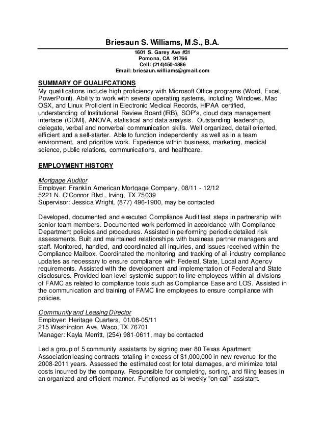 2015 Abbreviated Resume SE