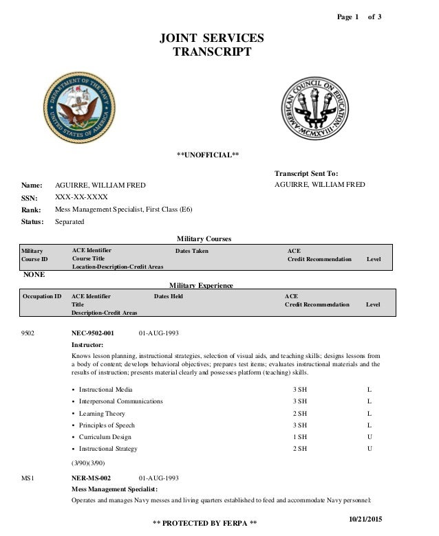 Navytranscripts