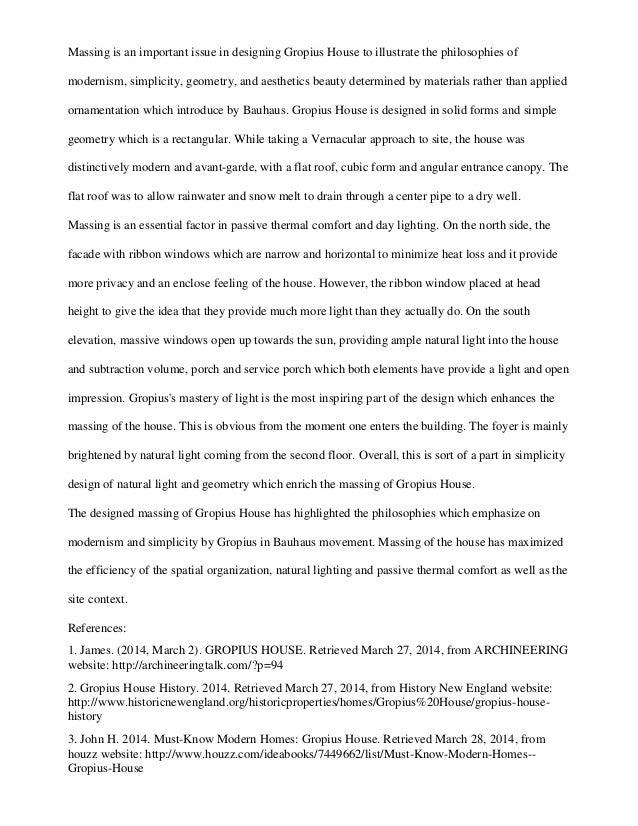 Walter Gropius Essay