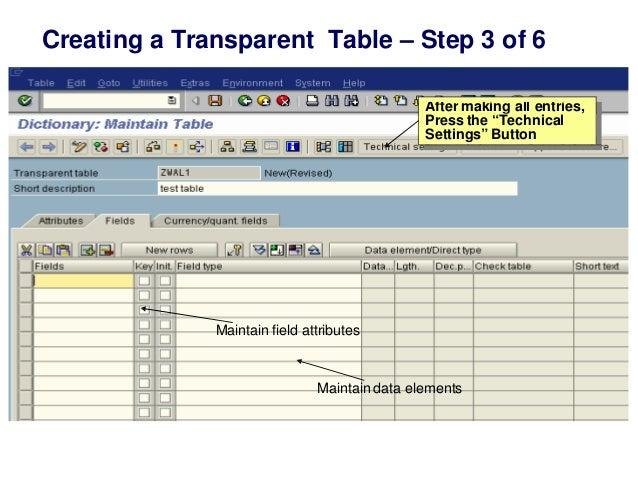 SAP ABAP data dictionary