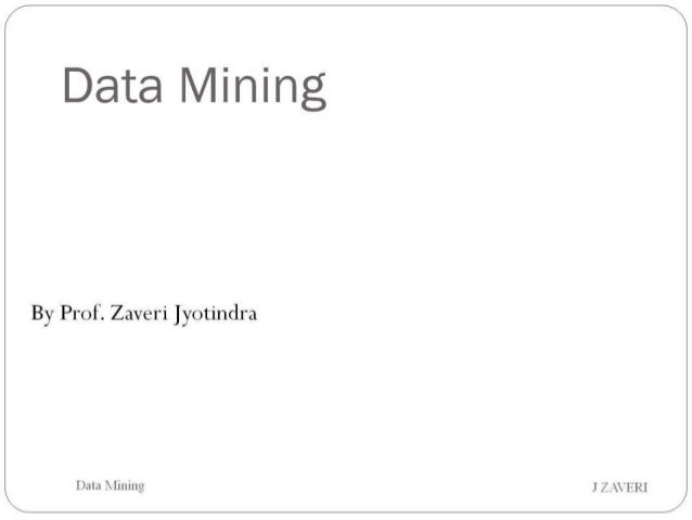 MIS / Data Mining - PUMBA