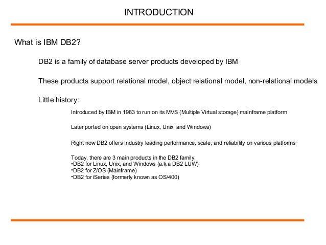 IBM DB2 LUW UDB DBA Online Training by Etraining guru