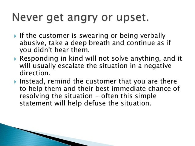 advice best deal with verbal abuse