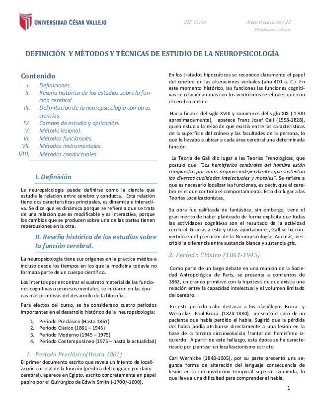 III Ciclo                     Neurociencias II                                                                            ...