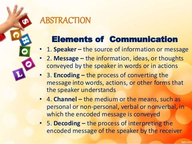 elements of oral communication pdf