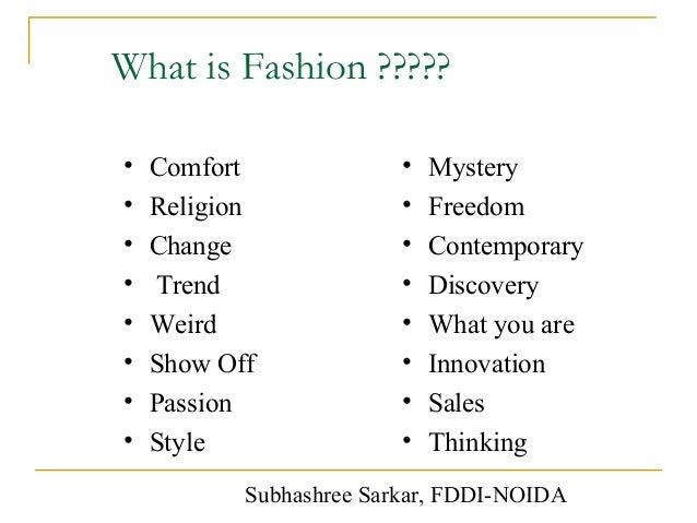 1 Definition Of Fashion