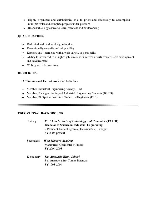 organizational abilities 2 highly organized - How To Organize A Resume