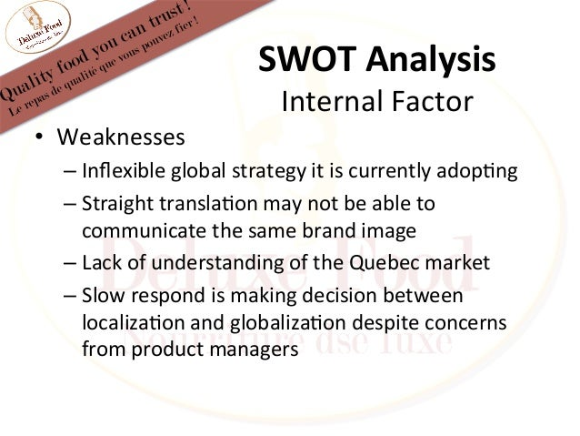 Swot analysis a1 steak sauce
