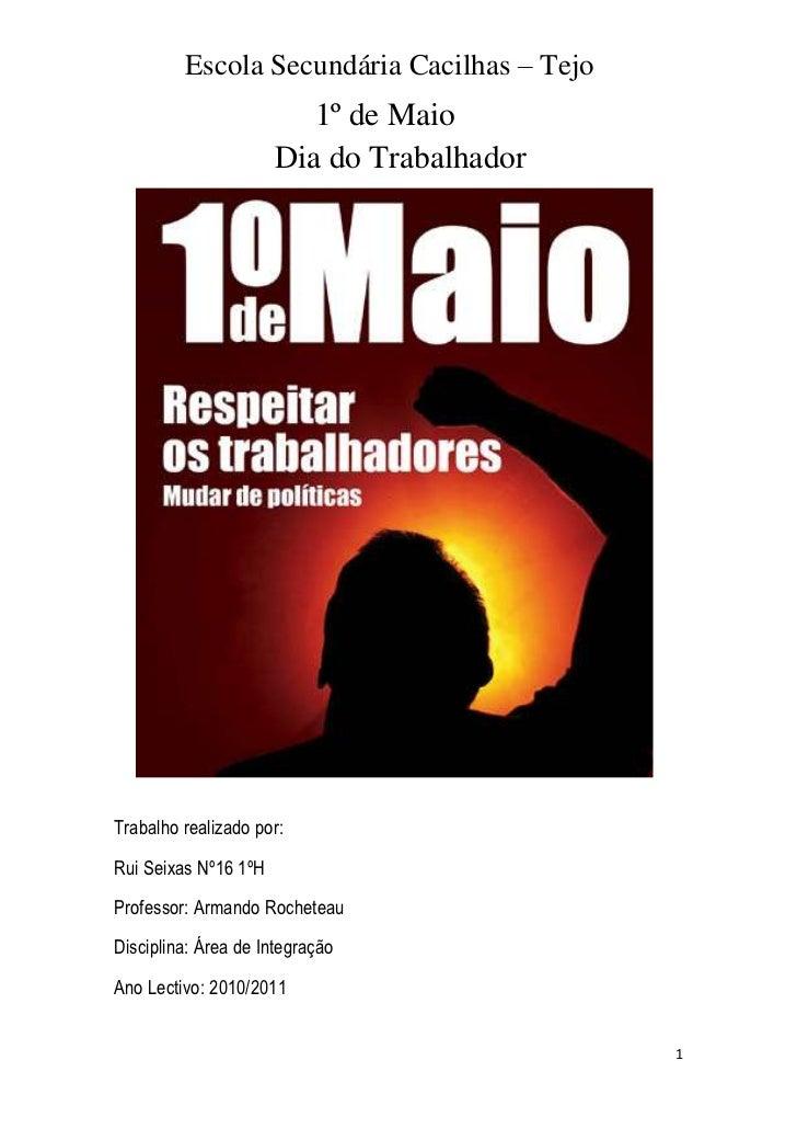207645882650                         1º de Maio                     Dia do Trabalhador<br /> <br />Trabalho realizado por:...