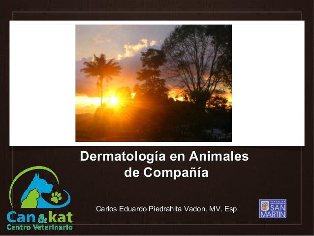 Dermatología en Animales      de Compañía  Carlos Eduardo Piedrahita Vadon. MV. Esp