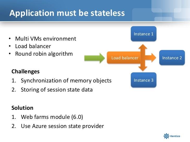 Application must be stateless<br />Instance 1<br /><ul><li>   Multi VMs environment