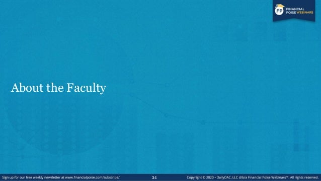 About the Faculty 34