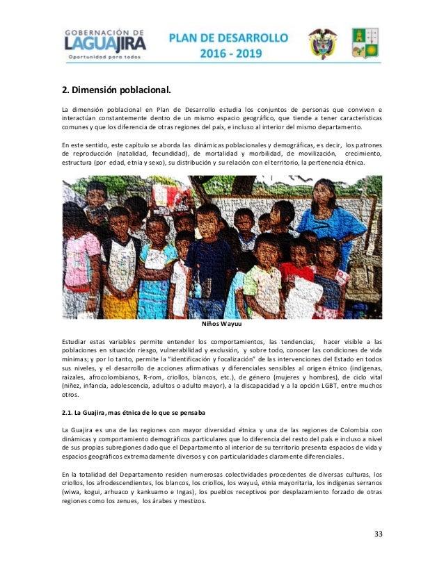 dimensión poblacional de La Guajira