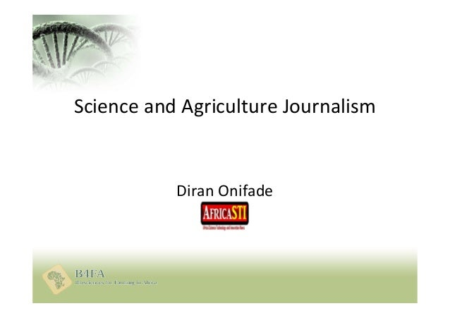 Diran Onifade Science and Agriculture Journalism