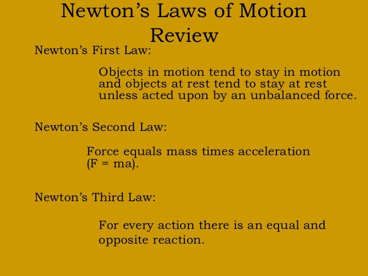 newtons 2nd law of motion