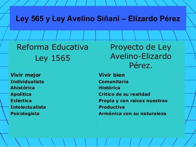 LEY 1565 REFORMA EDUCATIVA EPUB