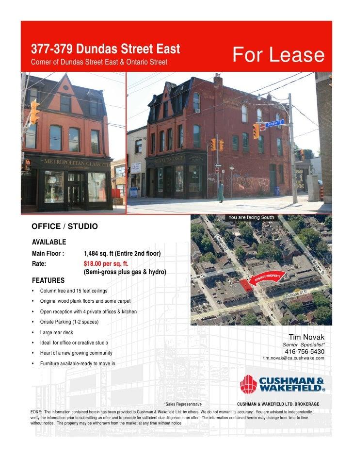 377-379 Dundas Street East Corner of Dundas Street East & Ontario Street                                                  ...
