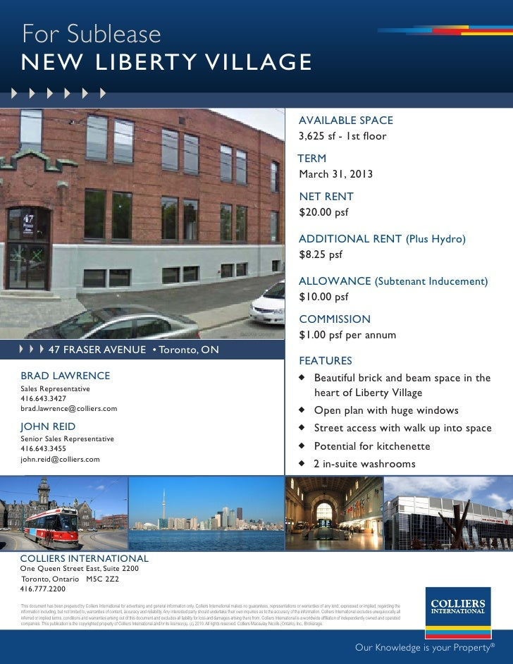 For Sublease NEW LIBERTY VILLAGE                                                                                          ...