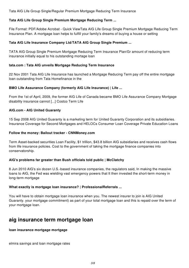 ... Insurance 2/8; 3. Tata AIG Life ...