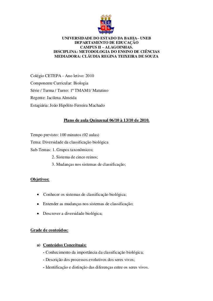 UNIVERSIDADE DO ESTADO DA BAHIA– UNEB                      DEPARTAMENTO DE EDUCAÇÃO                         CAMPUS II – AL...