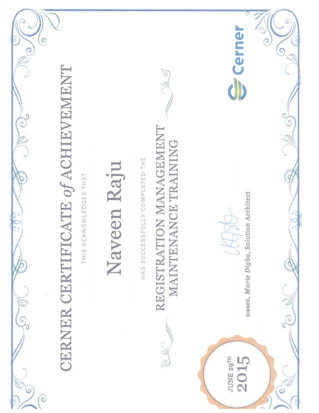 certificate cerner maintenance registration slideshare management upcoming