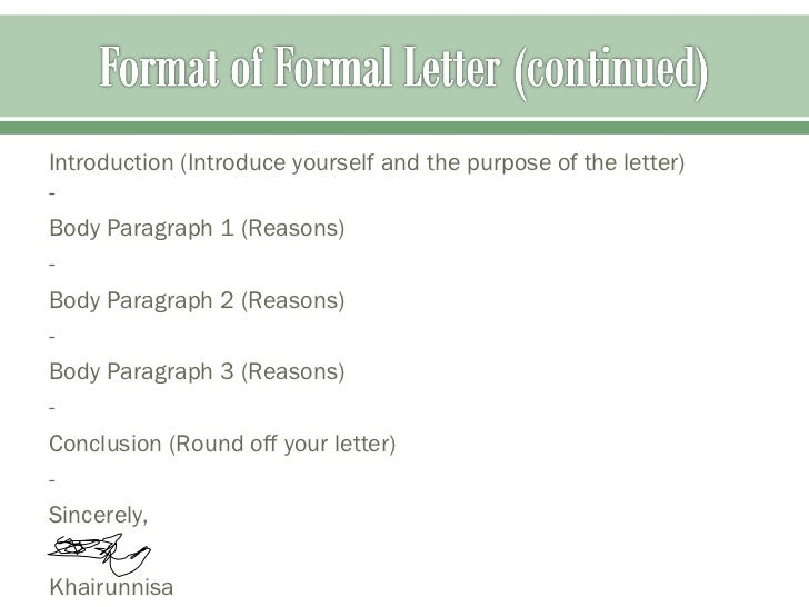 sec 1 formal letter language focus