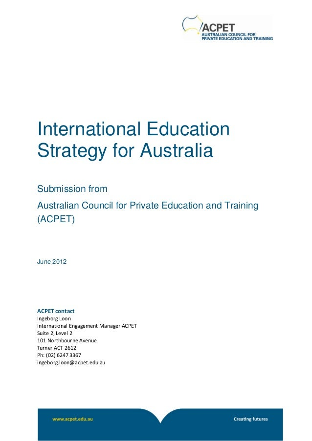 Acpet Ieac Consultation Process Submission