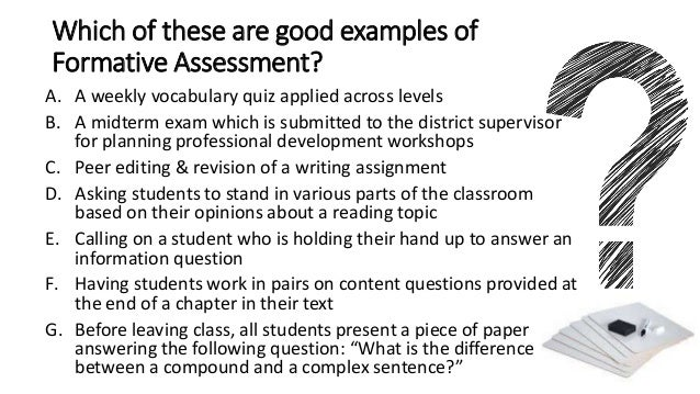 14. Which Of These Are Good Examples Of Formative Assessment?