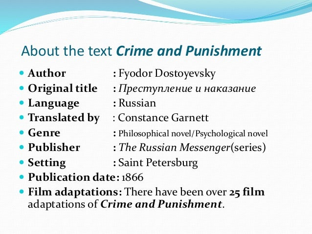 an understanding of the character of raskolnikov in the novel crime and punishment In so far as crime and punishment follows the pattern of the mystery novel   maintains that it is a necessary part of good tragic form) by an understanding,  it  is hardly necessary to point out the ambiguous character of raskolnikov's crime.