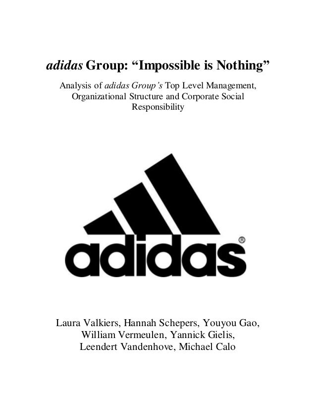 adidas Group- Management, Organizational Structure and CSR Analysis