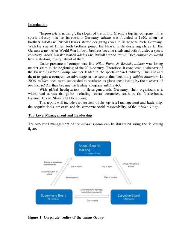 strategic management and adidas group