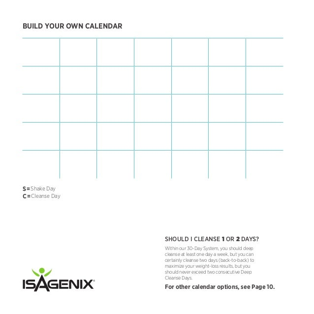 isagenix measurement tracker