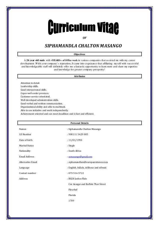 curriculum vitae new version 2015